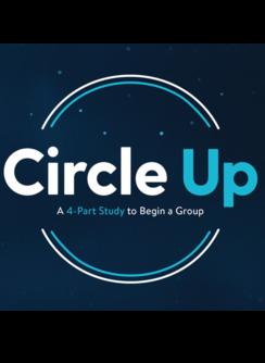 Circle Up Forming a Group Information Logo
