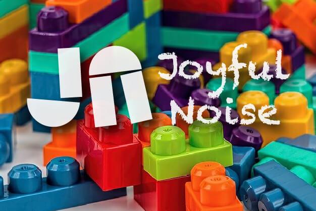 Joyful Noise Christian Preschool York PA logo with blocks in background