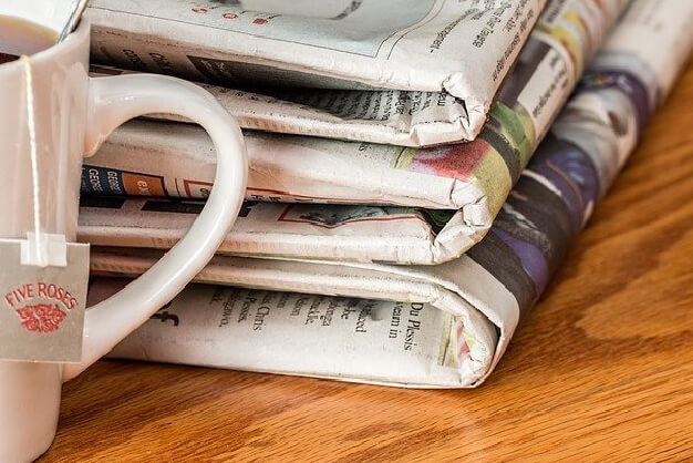 Latest news - newspaper and tea