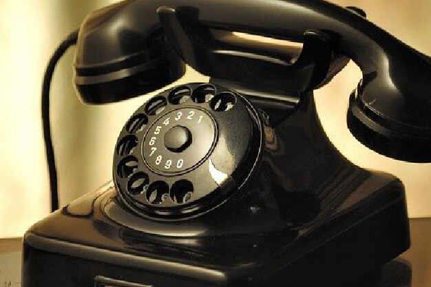 Old telephone contact us
