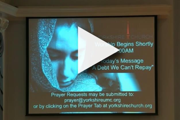 Screen cap of Vimeo video livestream sermon